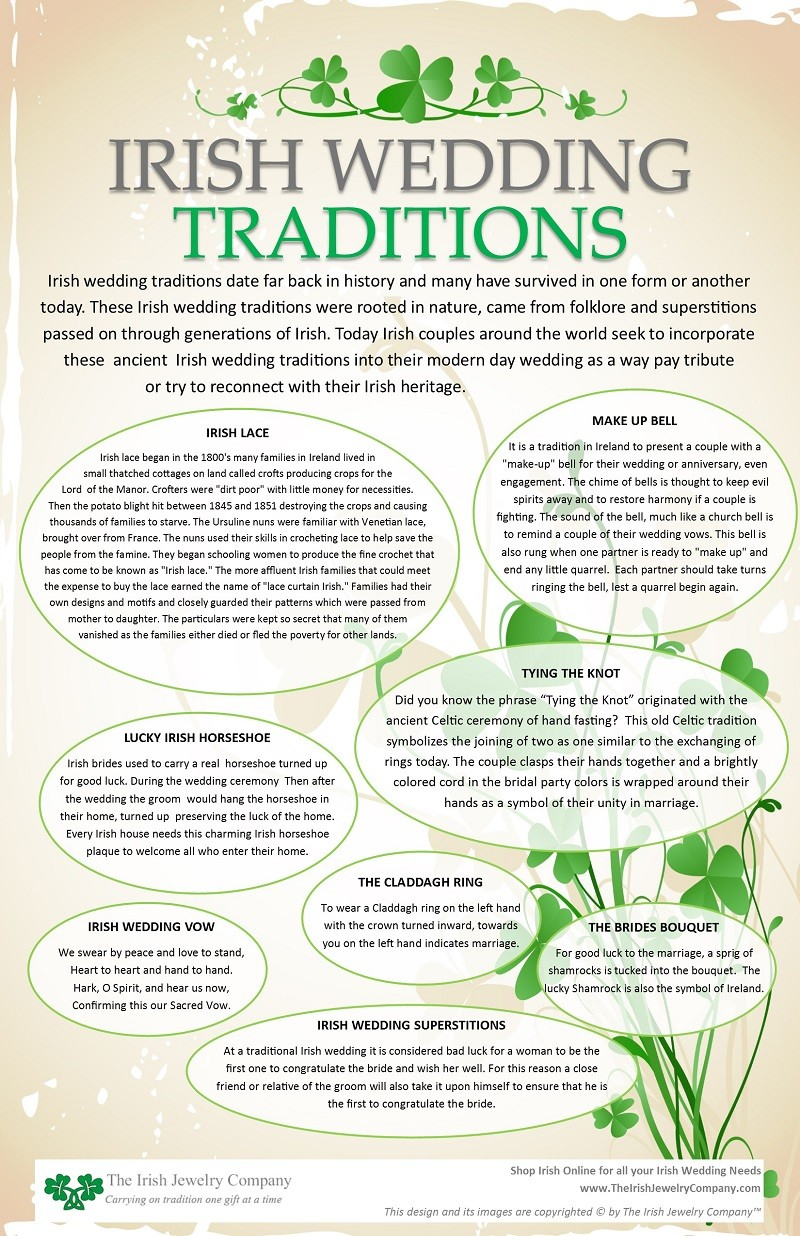 Irish Wedding Traditions Info Graphic