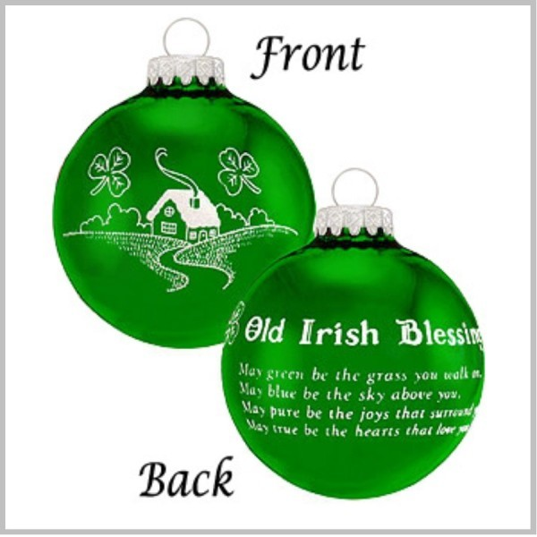 Irish Blessing Christmas Ornament Old Irish Blessing